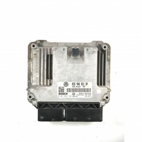 Calculateur Moteur VOLKSWAGEN PASSAT Bosch, 0 281 012 742, 03G 906 021 DP, 0281012742, 03G906021DP